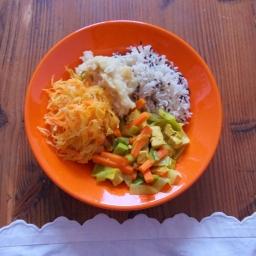 Veganes Menü für einen kalten Januartag