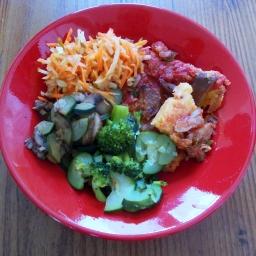 Polentapizza Trecolori mit viel Gemüse