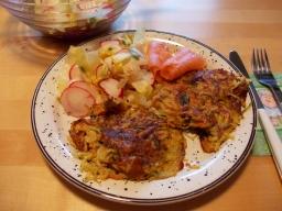 Bunte Kartoffel-Gemüse-Puffer
