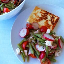 Sommerlicher Grüne-Bohnen-Salat