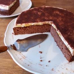 Gesunder Schokoladen-Bananenkuchen