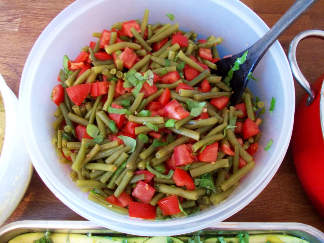 Gruene-Bohnen-Tomatensalat