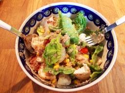 Buchweizenbulgur-Salat mit Mozzarella
